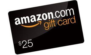 free $25 amazon gift cad